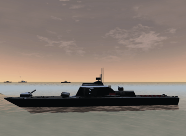 Warship battle simulation
